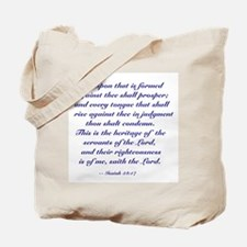 "Isaiah ""No Weapon Shall Prosper"" Tote"