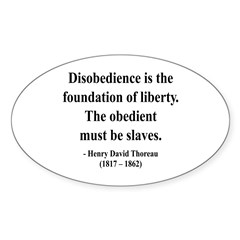 Henry David Thoreau 14 Oval Decal