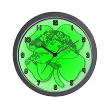 Shamrock Girl Wall Clock