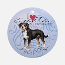 Entlebucher Mountain Dog Ornament (Round)