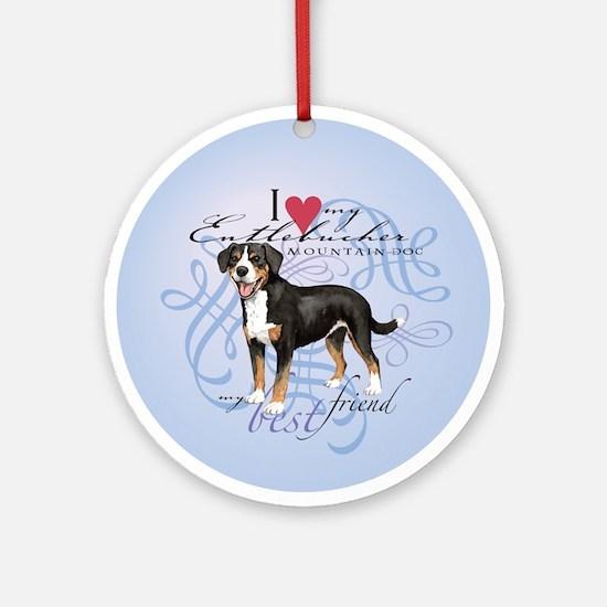 Entlebucher Mountain Dog Ornament (Round)