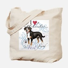 Entlebucher Mountain Dog Tote Bag