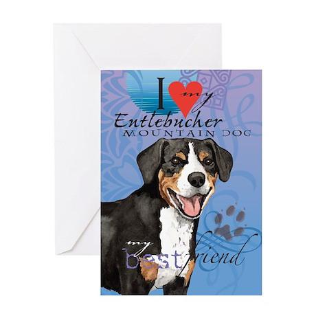 Entlebucher Mountain Dog Greeting Card