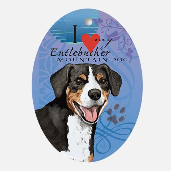 Entlebucher Mountain Dog Oval Ornament