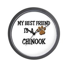 My best friend is a CHINOOK Wall Clock