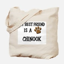 My best friend is a CHINOOK Tote Bag