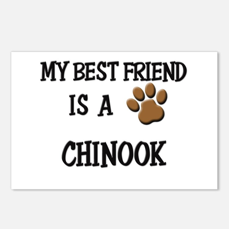 My best friend is a CHINOOK Postcards (Package of