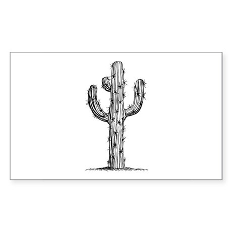 Cactus Rectangle Sticker