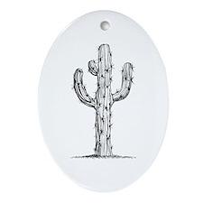 Cactus Oval Ornament