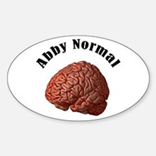 Abby Normal Oval Decal
