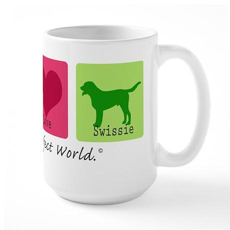 Peace Love Swissie Large Mug