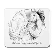 Yin Yang Horse Head - Mousepad