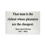 Henry David Thoreau 16 Rectangle Magnet (10 pack)