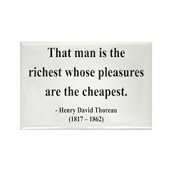Henry David Thoreau 16 Rectangle Magnet (10 pack)