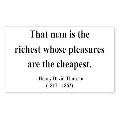 Henry David Thoreau 16 Rectangle Decal