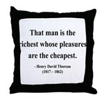 Henry David Thoreau 16 Throw Pillow