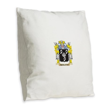 Micaletto Coat of Arms - Famil Burlap Throw Pillow