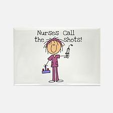 Nurses Call the Shots Rectangle Magnet (100 pack)