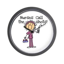 Nurses Call the Shots Wall Clock