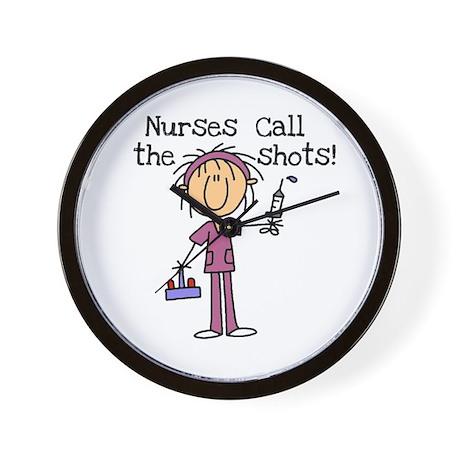 Nurses Call the Shots Wall Clock