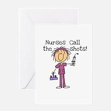 Nurses Call the Shots Greeting Card