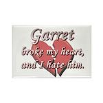 Garret broke my heart and I hate him Rectangle Mag