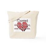 Garret broke my heart and I hate him Tote Bag