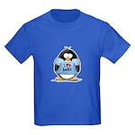 I Love Hugs Penguin Kids Dark T-Shirt