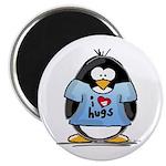 I Love Hugs Penguin Magnet