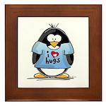 I Love Hugs Penguin Framed Tile