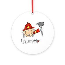 Firewoman Ornament (Round)