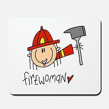 Firewoman Mousepad
