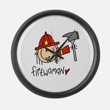 Firewoman Large Wall Clock