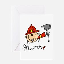 Firewoman Greeting Card