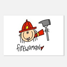 Firewoman Postcards (Package of 8)