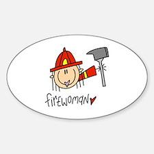 Firewoman Oval Decal