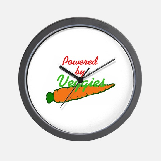 Powered by Veggies Wall Clock