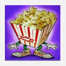 Cute Popcorn humor Tile Coaster