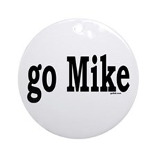 go Mike Ornament (Round)