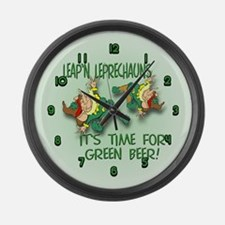 Green Beer Large Wall Clock