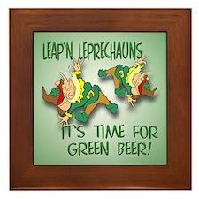 Green Beer Framed Tile