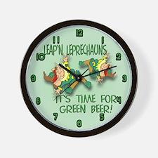 Green Beer Wall Clock