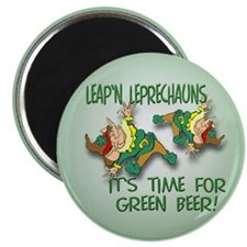 """Green Beer 2.25"""" Magnet (10 pack)"""