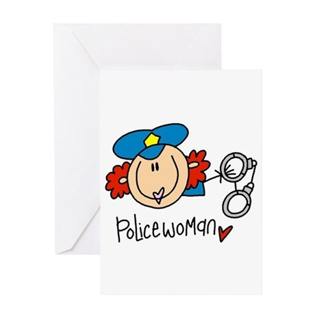 Policewoman Greeting Card