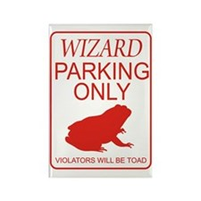 Wizard Parking Rectangle Magnet