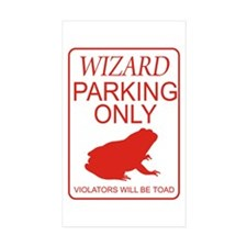 Wizard Parking Decal