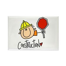 Construction Worker Rectangle Magnet