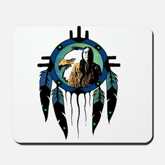 Eagle Chief Dreamcatcher Mousepad