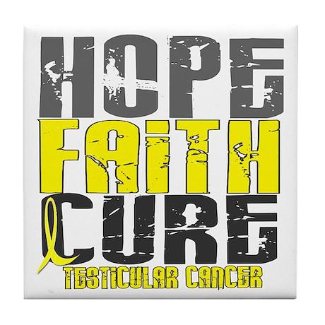HOPE FAITH CURE TestCancer Tile Coaster