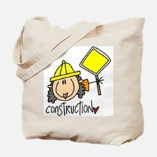 Female Construction Worker Tote Bag